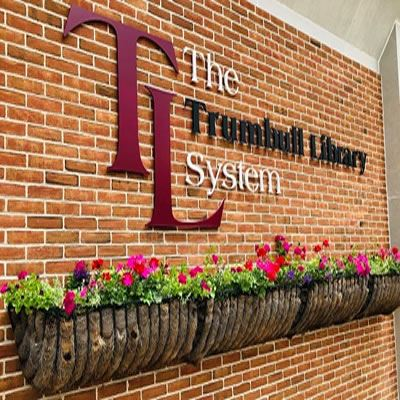 Trumbull Library Sign Image